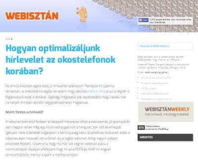 A cikk képe Webisztán honlapján