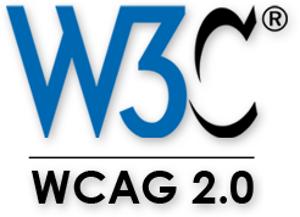 Felirat: W3C védjegy, alatta: WCAG 2.0