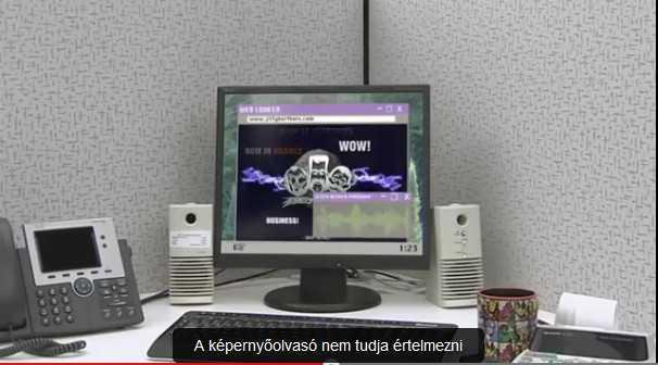 Harold Jeepers megküzd az akadálymentes honlapért - Jiffy Brothers honlapja: flash animációk. grafikák, és a képernyőolvasó kiakad.