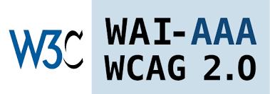 A W3C WAI-AAA megfelelősséget tanusító hivatalos emblémája.