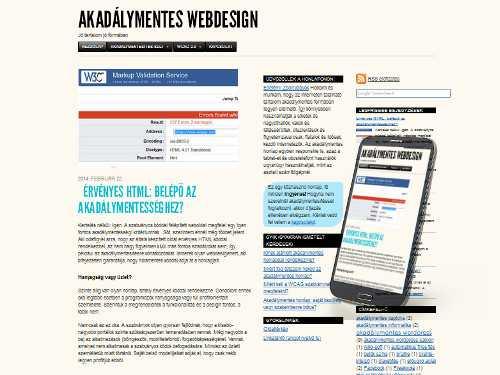 Akadálymentes honlap egyben responsive (reszponzív) honlap is.