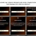 A vakbarát, más nével akadálymentes változatot a böngészők biztosítják. A képen a Chrome által készített nagykontrasztú változat látható.