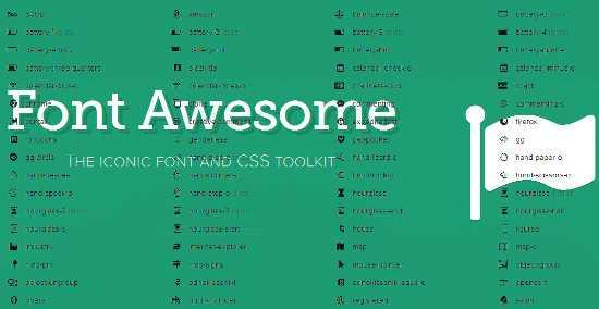 Font Awesome ikonkészlet logója és ikonjai