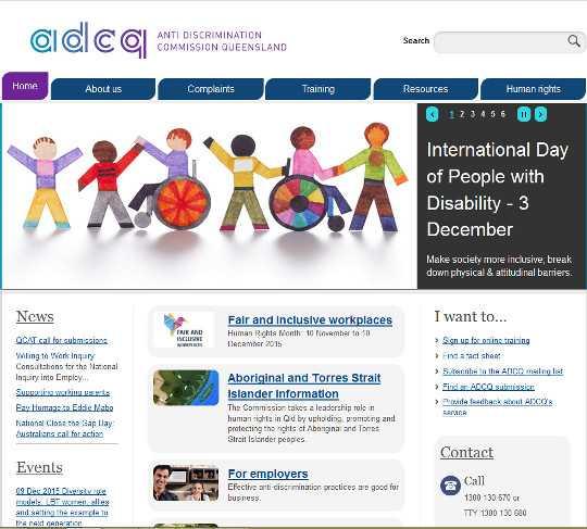 Az ACDQ három A szintű akadálymentes honlapjának design-ja igen vidám.