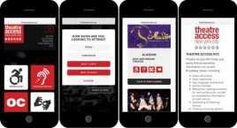 Az akadálymentes színház akadálymentes honlapja mobiltelefonon. Nagyon felhasználóbarát.