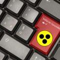 Sárga fekete pötty a billentyűzet enter billentyűjén. Rajta felirat: soha ne használd!