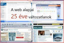 A web alapjai 25 éve változatlanok